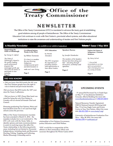 OTC Newsletter April 2014