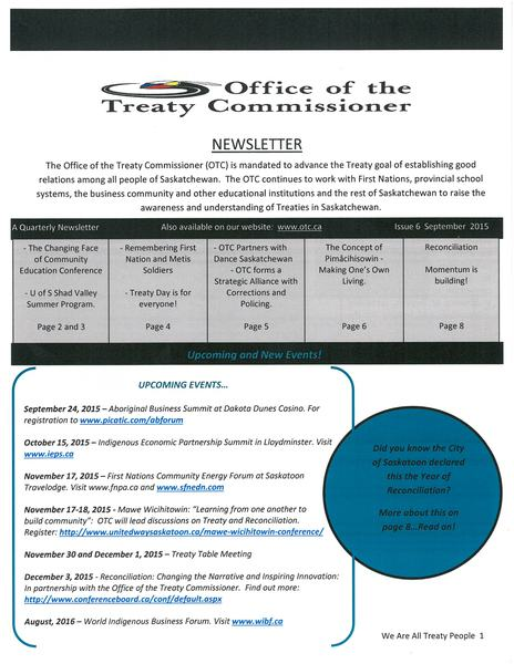 OTC Newsletter September 2015