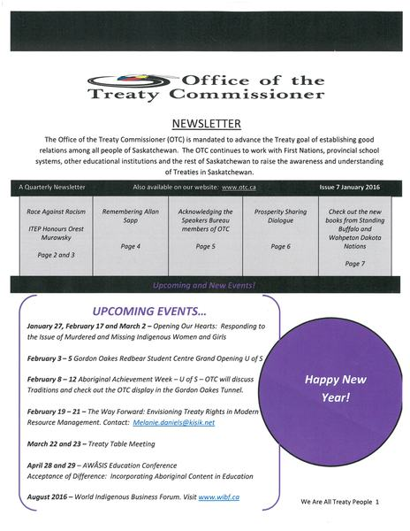 OTC Newsletter January 2016