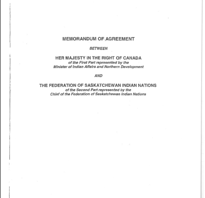 Office of the Treaty Commissioner Memorandum of Agreement